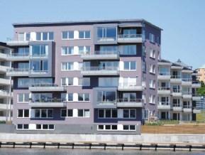 BRF Fenderns sjuvåningshus i Henriksdalshamnen