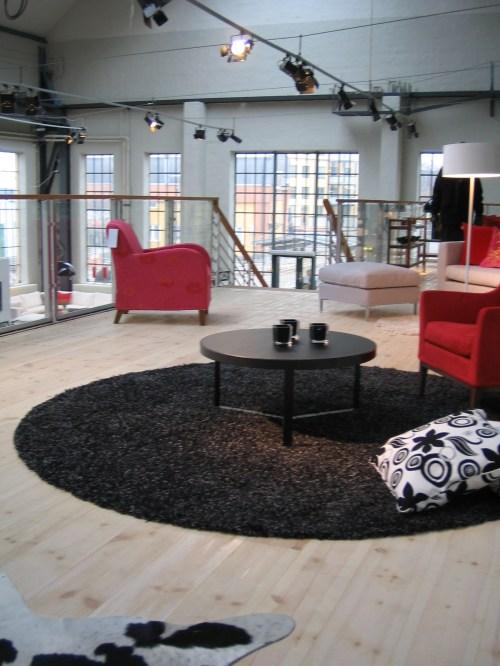 Möbelbutiken Fogias övre plan