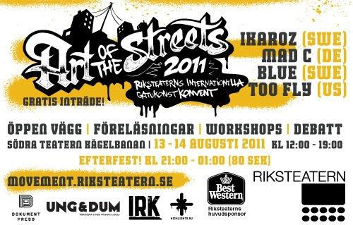 flyer för art of the streets 2011