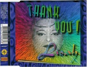 Skivomslag till Thank You! av Lisah