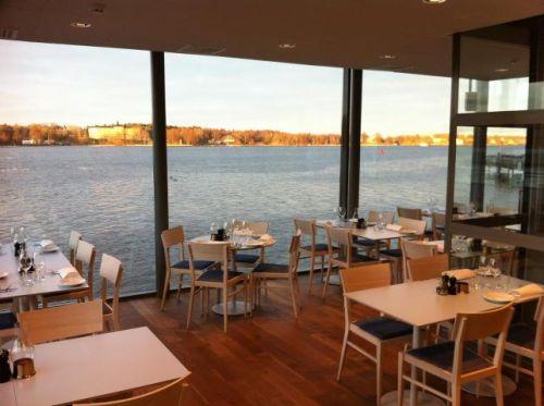 Utsikt från FB Sea i Finnboda mot Inloppet