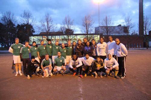 Henriksdalsbergets FF och Dasslocket United på Nacka IP