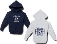 Sportkläder till barnen med Vilans skolas logotyp