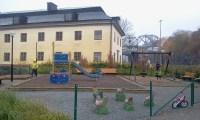 Förbättrad lekplats vid Danviks Hospital i Saltsjöqvarn