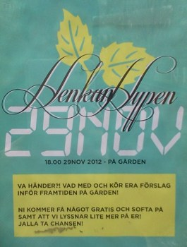 affisch Henkan Hypen- fritidsgården Glada Henkan
