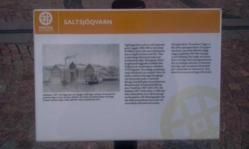 Saltsjöqvarn, Nacka: Kommunens kulturtavla berättar om kvarnverksamheten i Saltsjöqvarn