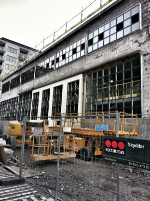 Docklands fasad mot Hästholmssundet
