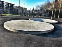Skatepark i Anders Franzéns parken i Henriksdalshamnen