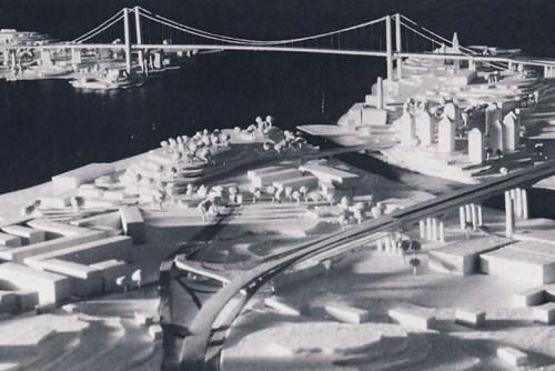 Golden Gate-bro mellan Djurgården och Henriksdalsberget