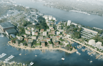 Förslag på nytt bostadsområde i Gäddviken, Nacka