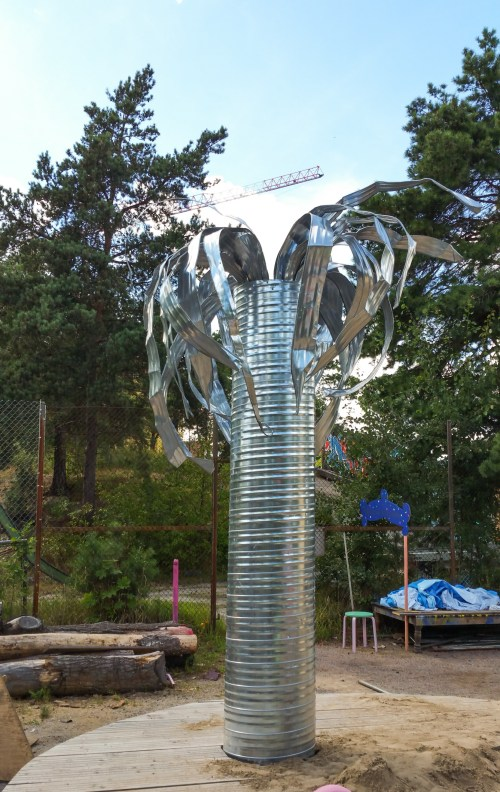 Palm på Magiska trädgården på Kvarnholmen