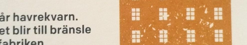 Mannagrynskvarnen på baksidan av en förpackning med Axa proteinhavre