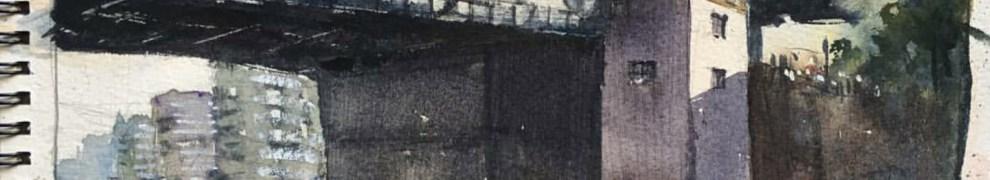 Davis Meldrums skiss av Danviksbron