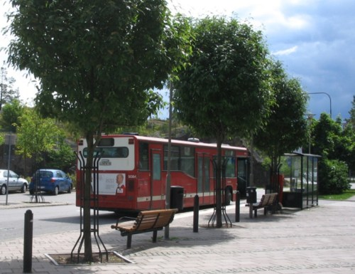 Buss 53 på Henriksdalsberget