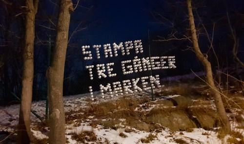 Mystiskt meddelande vid Bageriberget i Nacka