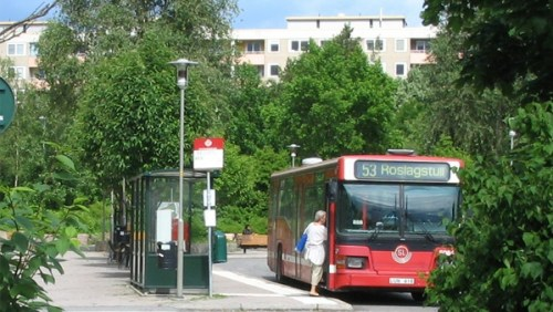Buss 53 på Henriksdalsberger