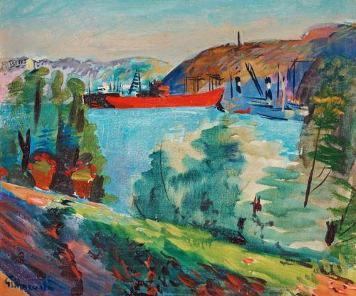 Isaac Grünewald - utsikt från Waldemarsudde mot Kvarnholmen