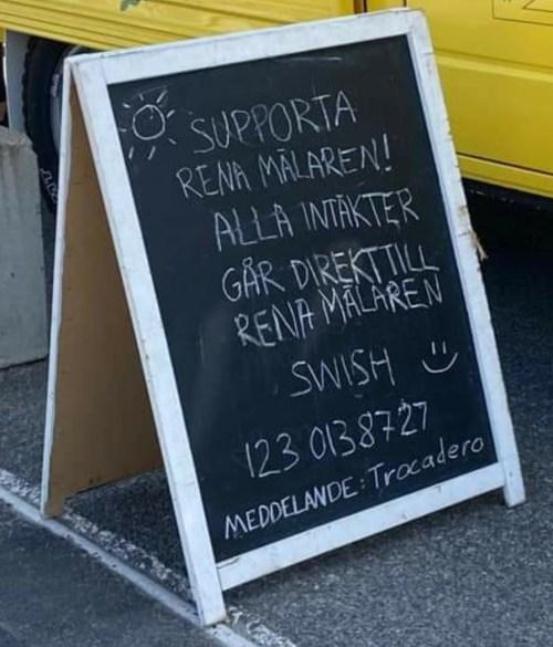 Supporta Rena Mälaren genom att swisha till 123 013 87 27