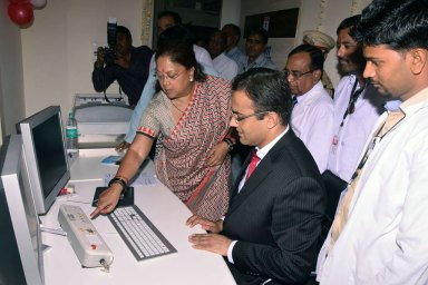 Raje inaugrated CT Scan Machine