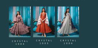 Kiana Of Fashion Wholesale Collection Crystal 1001-1006 Heavy Rayon Kurti