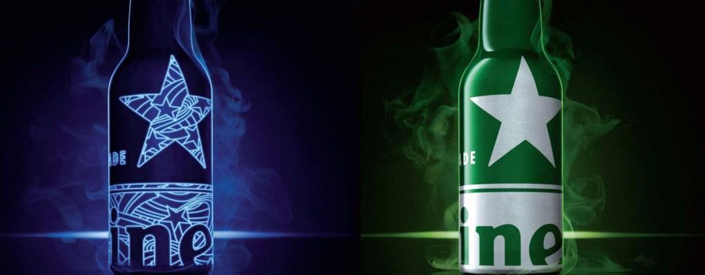Heineken с бутилка-хамелеон