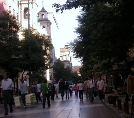 Calle peatonal. Centro de Santiago