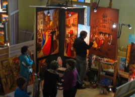 Symposium of Arts of Port Daniel 2013. An Artist working the light!