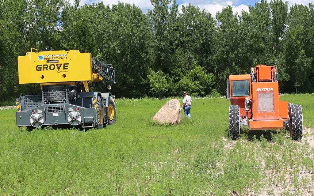 Positioning the Heavy Equipment