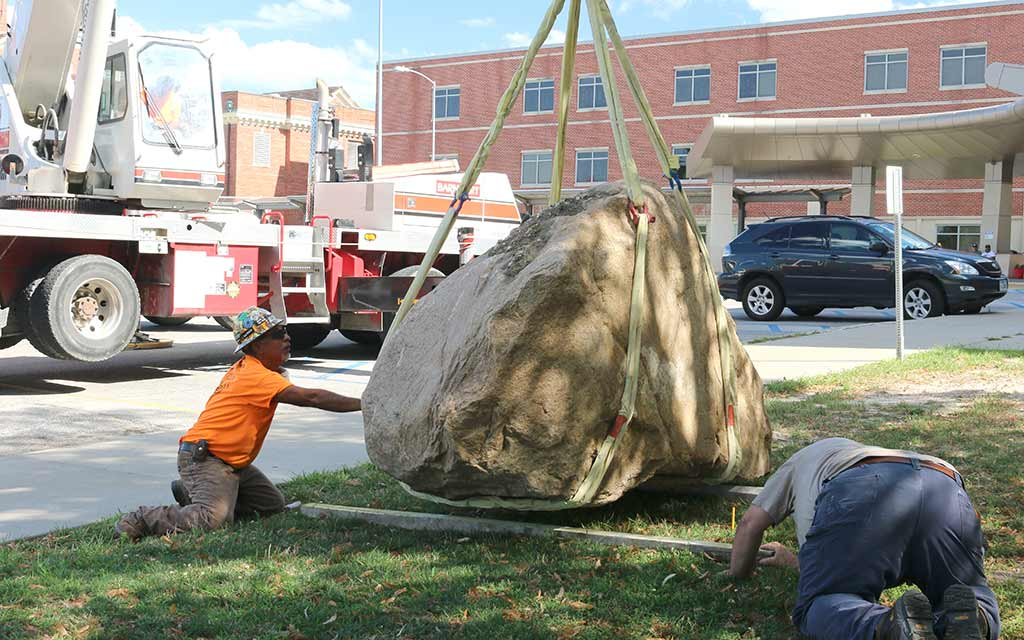 Setting the Rock on the Footing