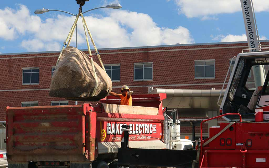 Unloading the Rock at the VA Hospital