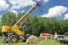 Leveling the Cerne Calcium Company crane in Fort Dodge