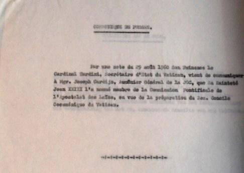 Press release 29 08 1960