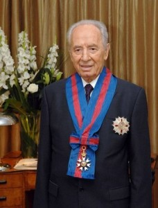 Queen Elizabeth II knights Shimon Peres: Both Serving the Vatican Shimon-peres-wears-the-honourary-knight-commanders-order-of-st-michael-and-st-george-228x300