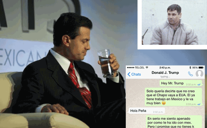 President of Mexico Enrique Peña Nieto messaging Donald Trump over Guzman