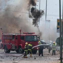 Nigeria - A scene from the terrorist attacks against Christians