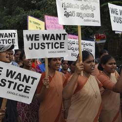 A Christian demonstration in India