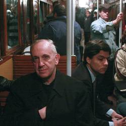 Bergoglio on the Buenos Aires underground