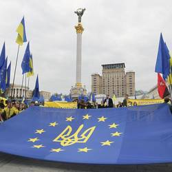 A pro-Europe demonstration in Ukraine