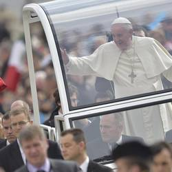 The Pope during today's Audience in St. Peter's Square