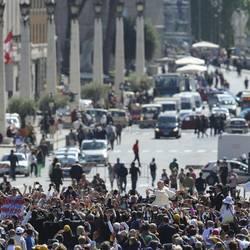 Pope Francis among the faithful