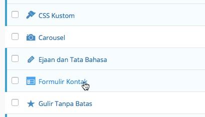Formulir Kontan alias Contact Form