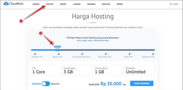 Hosting IdCloudHost Basic Pro