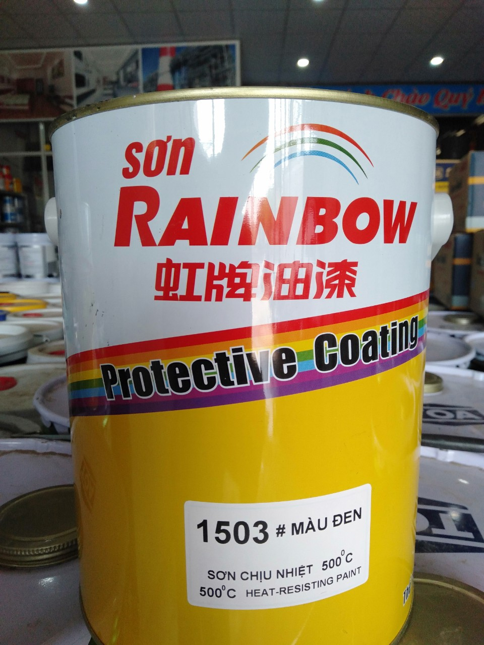 SON CHIU NHIET MAU DEN 500 DO RAINBOW 1503 4L (3)