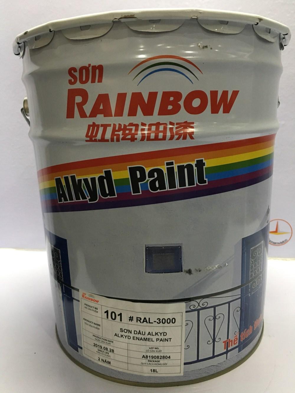 SON ALKYD RAINBOW MAU DO RAL 3000 -18L (2)