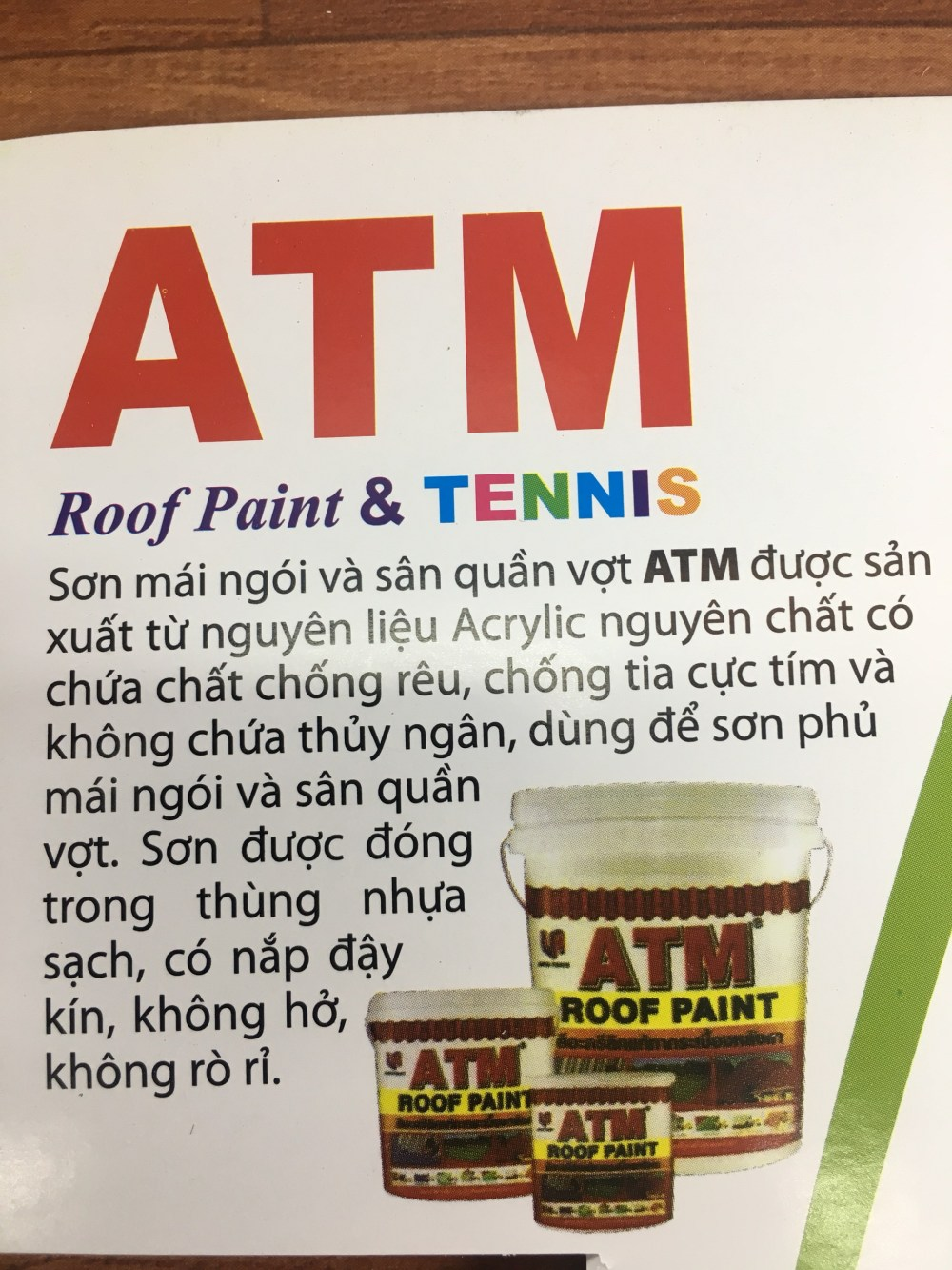 SON MAI NGOI & TENNIS ATM ROOF PAINT - (2)