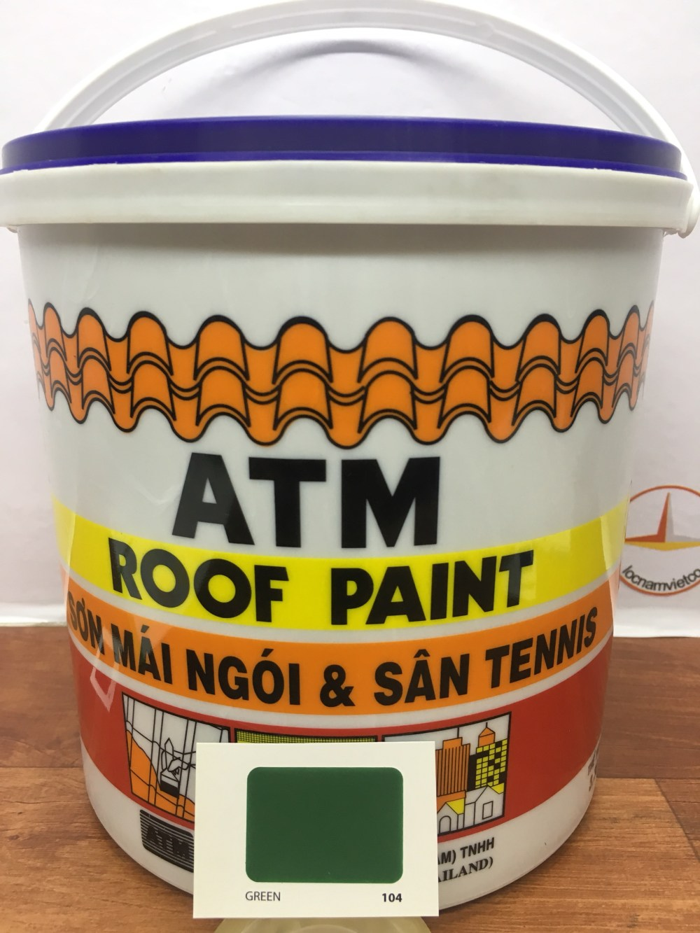 SON MAI NGOI & TENNIS ATM ROOF PAINT GREEN 104 (2)