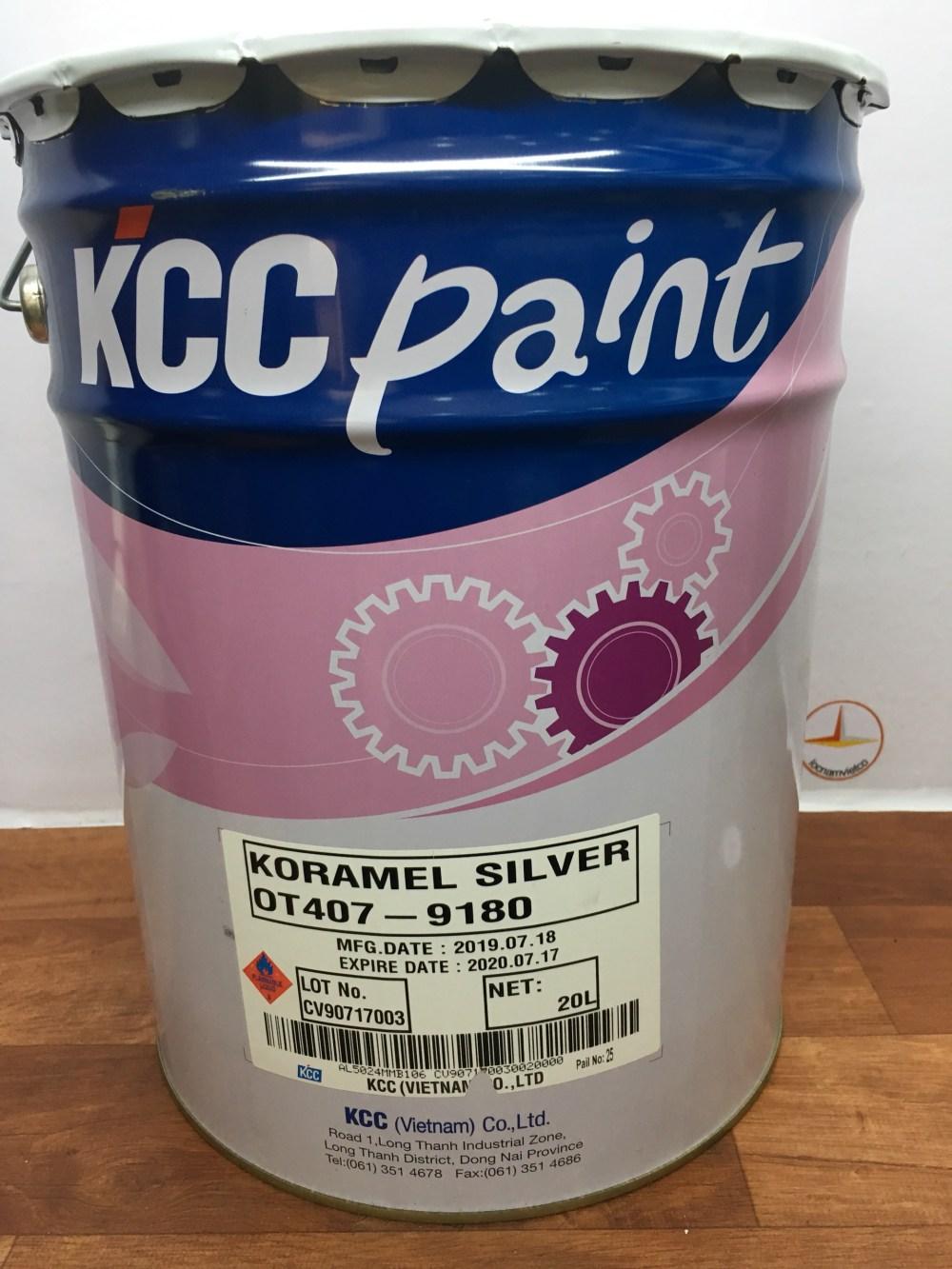 SON CHIU NHIET KCC KORAMEL SILVER OT407-9180 200 Do C-20L (4)