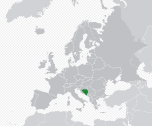 bosnía og hersegóvína kort