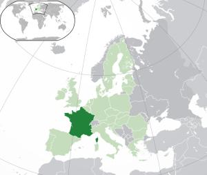 frakkland kort