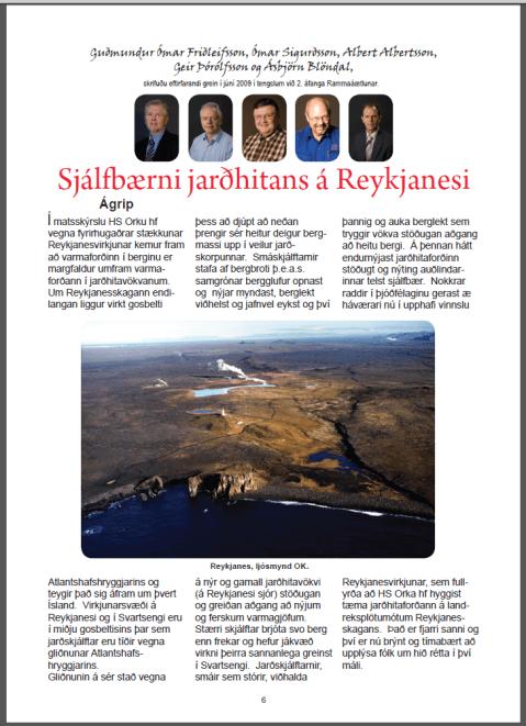Sjálfbærni jarðhitans á Reykjarnesi